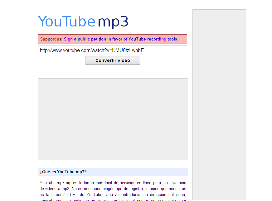 Convertir videos de YouTube en formato mp3