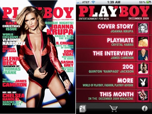 Aplicacion de Playboy para iPhone