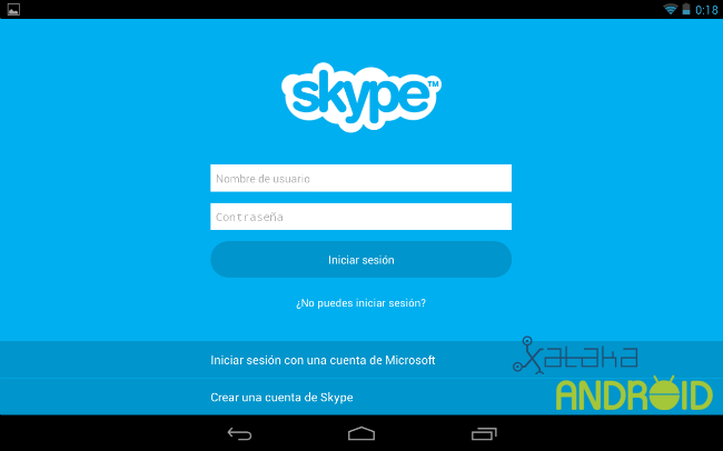 Skype para Tablet con Android