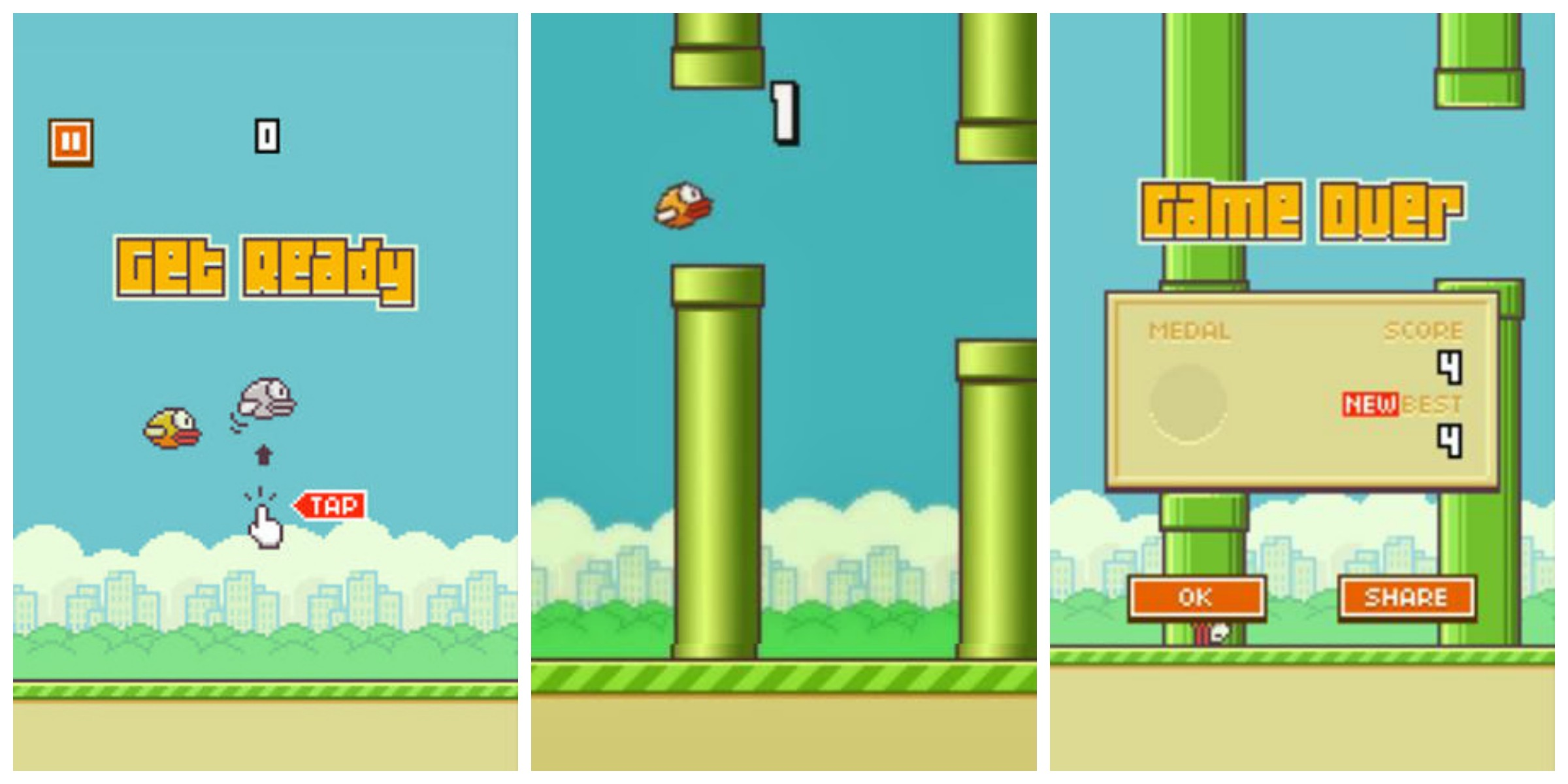 Descargar Flappy Birds para iOS y Android