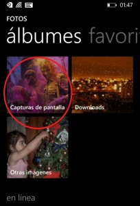 Como hacer capturas de pantalla en Windows Phone 8.1